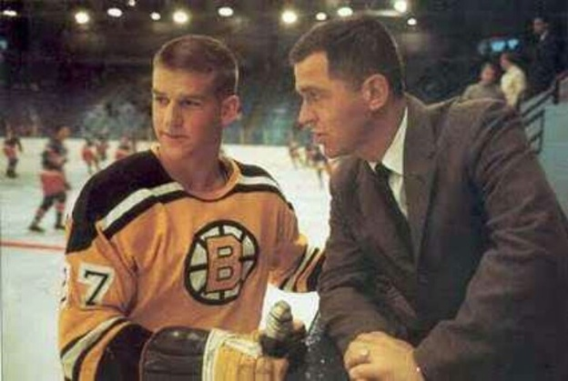 1947 - A 3-1 Boston win over the New York Rangers is repeatedly delayed due to fog and soft ice conditions caused by 80-degree temperatures inside Boston Garden. There is a 40-minute delay after the second period so players from both teams could get their skates resharpened.  1966- Bobby Orr makes his debut in a Boston uniform and Harry Sinden is behind the bench for his first game as Boston coach as the Bruins defeat the Detroit Red Wings, 6-2. It is their first opening night victory since 1962