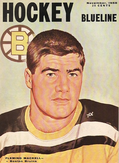 1952 Fleming Mackell scored three goals and Joe Klukay had three assists to lead the Bruins to a 4-1 win over the Black Hawks in Boston.