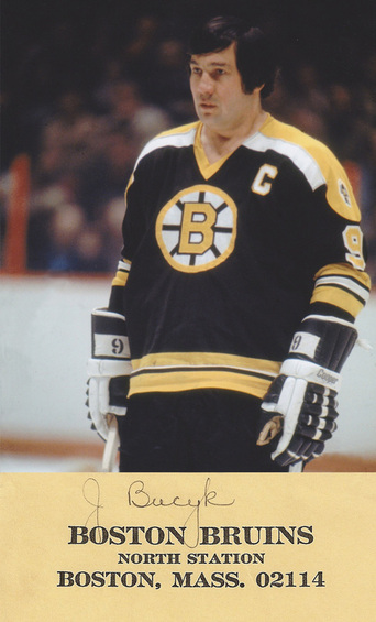 December 26, 1976 John Bucyk's 545th career goal moved him past Maurice Richard on the all-time goal list, in the Bruins' 6-3 win over the Cleveland Barons, in Boston Garden. Bucyk's 545 goals put him #4 in NHL history (behind Howe, Hull, and Esposito).
