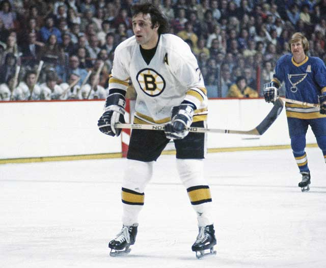 1974 Boston's Phil Esposito scored twice to become the second player in franchise history to score 400 goals as a member of the Bruins. The milestone goals (along with an assist) came in an 8-2 win against the visiting Kansas City Scouts.