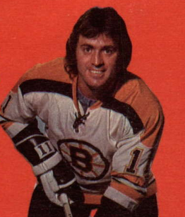 in his first full season with Boston he scored 28 goals and 56 pts. During the 1972-73 season Mike started very well, scoring 21 goals in his first 33 games, but then a bizarre accident happened in a St. Louis hotel.