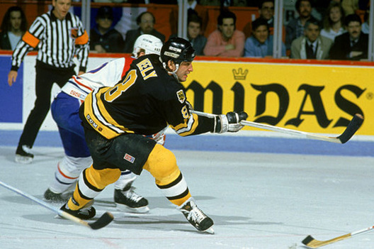 1993 Boston's Cam Neely scored his 9th career hat trick, to give him 300 goals in his NHL career. He also became the 9th player to score 250 goals as a member of the Bruins. His milestone came in a 6-3 win over the visiting Calgary Flames.